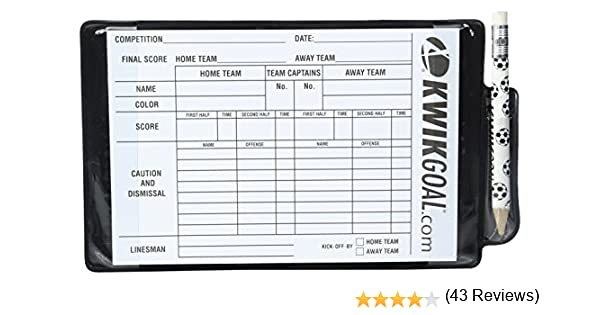 Amazon.com : Kwik Goal Referee Wallet : Coach And Referee ...