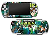Ben Ten 10 Ultimate Alien Omnitrix Tennyson Video Game Vinyl Decal Skin Sticker Cover for Sony PSP Playstation Portable Original Fat 1000 Series System