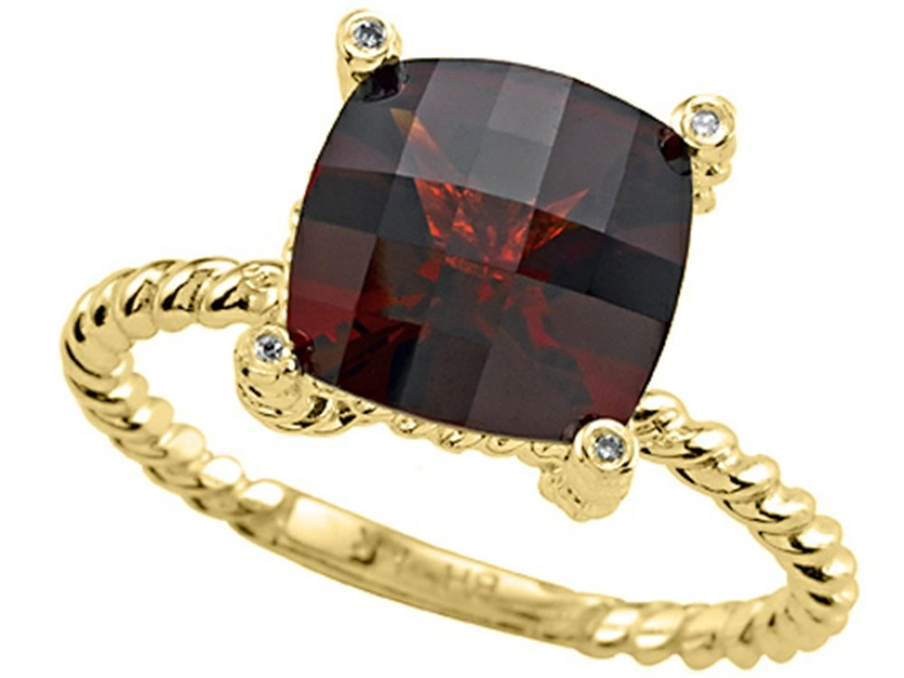 Genuine Garnet Ring by Effy Collection 14kt Size 6.5