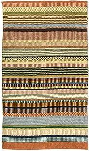 Creative Co-op 3' x 5' Multicolor Striped Cotton Wo