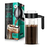 Chilly Java Cold Brew Glass Coffee Maker Pitcher, Over 1 Quart Capacity (5+ Servings) For Sale