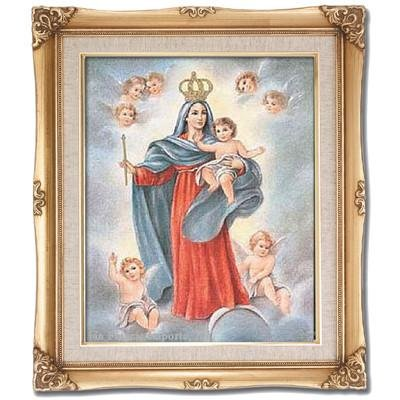 Our Lady of the Angels Framed Art by Discount Catholic Store