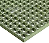Fiberglass Grating, Standard Tolerance, Green, Grit-Top, 1-1/2'' Thickness, 4' Width, 4' Length, 1-1/2'' x 1-1/2'' Openings