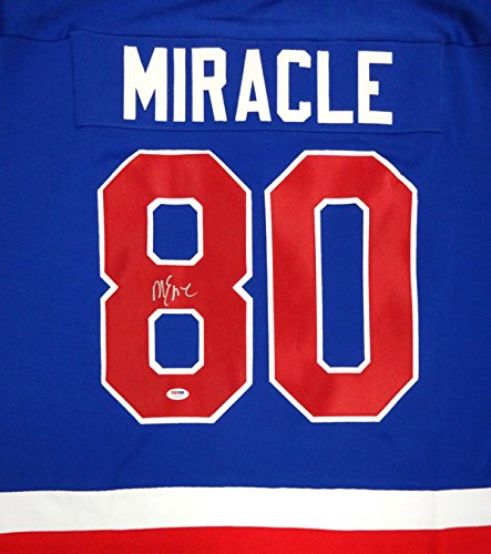 Mike Eruzione Autographed Miracle Team USA Jersey PSA/DNA (1980 Hockey Jersey Usa Autographed)