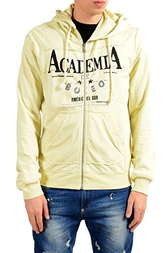Dolce & Gabbana Yellow Graphic Full Zip Men's Hoodie US S IT 48