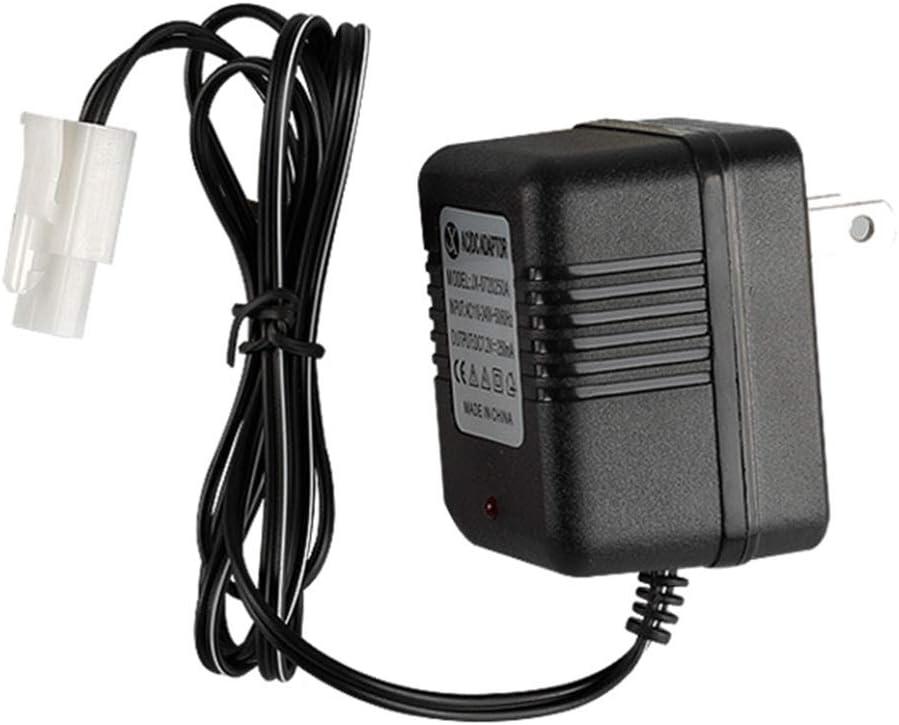 luosh Portable Smart Charger for 7.2V Ni-Cd Ni-MH Battery with KET-2P Plug for RC Toys