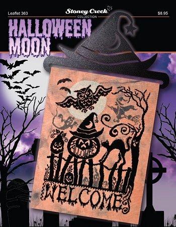 Halloween Moon (Leaflet 363) Cross Stitch Chart and Free Embellishment]()
