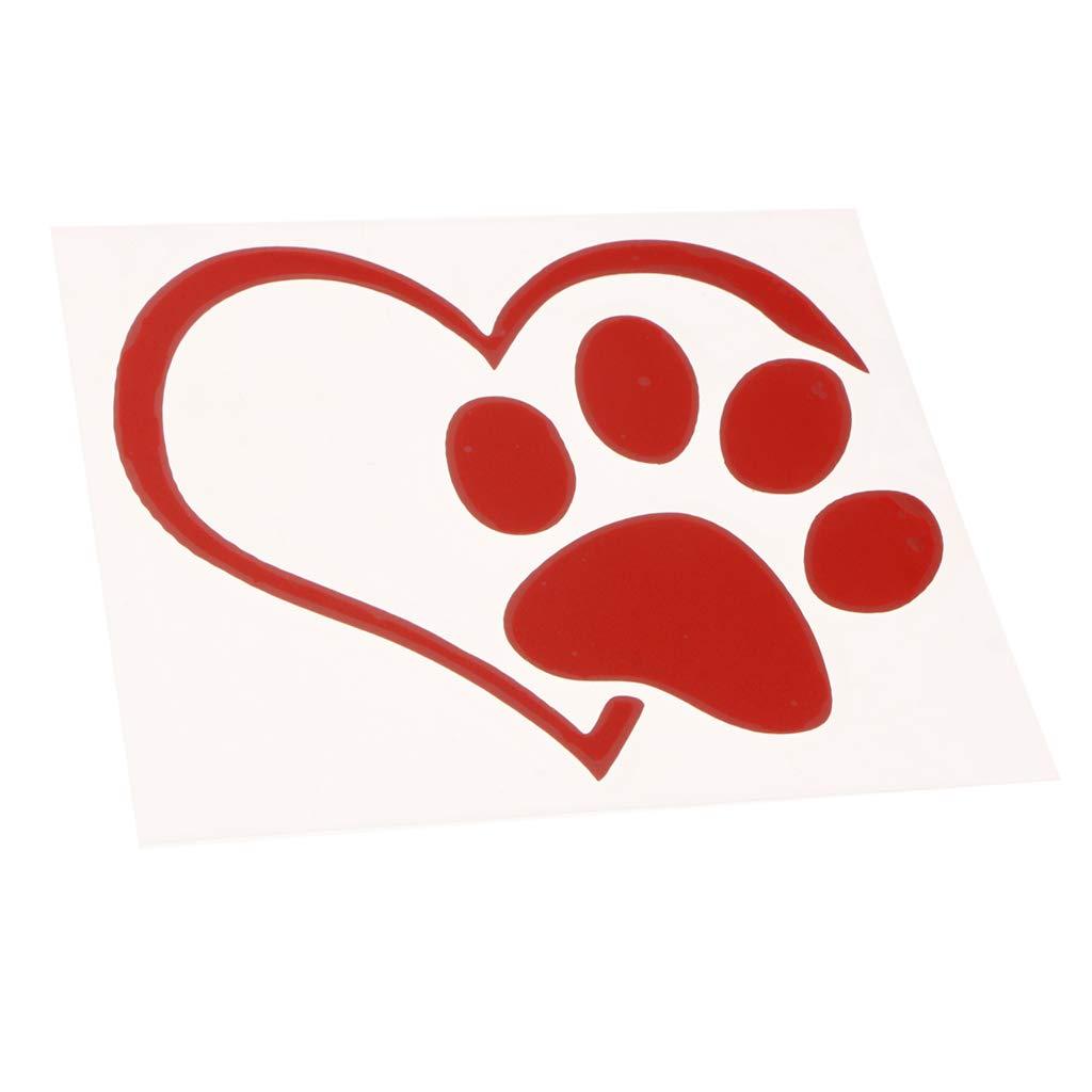Negro Shiwaki Mascota Pata Amor Coraz/ón Patr/ón Pegatinas De Ventana De Coche Vinilo Gatos Perros Calcoman/ías
