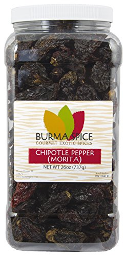 Dried Morita Chipotle Pepper Smokey Flavor Chile Kosher (26oz.) by Burma Spice (Image #3)