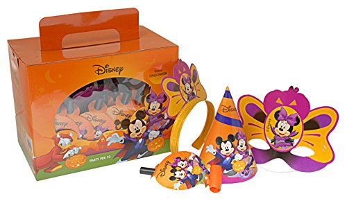 Ciao 29003-Party Box Disney Halloween Mickey and Minnie for 10People, Orange -