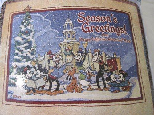 Disney California's Adventure Park Woven Season's Greeting - Adventure Stores California