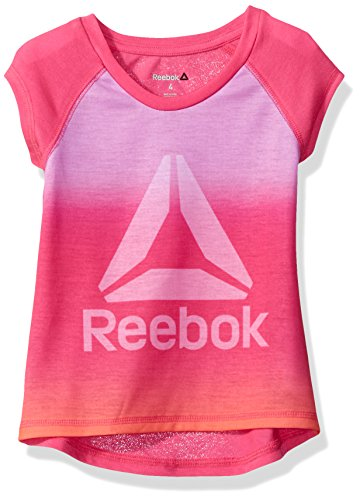 Price comparison product image Reebok Big Girls' Sunset Ombre Delta Dip Dye Tee, Festival Pink, 8/10