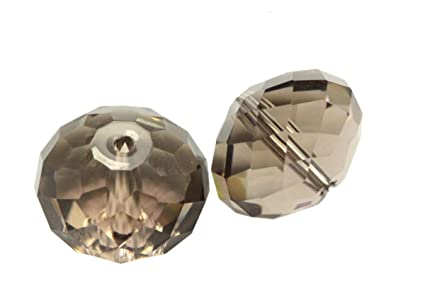 f261db17c2846 100 6mm Adabele Austrian Rondelle Crystal Beads Smoked Quartz Rondelle  Spacer Compatible with 5040 Swarovski Crystals Preciosa SS1R-621