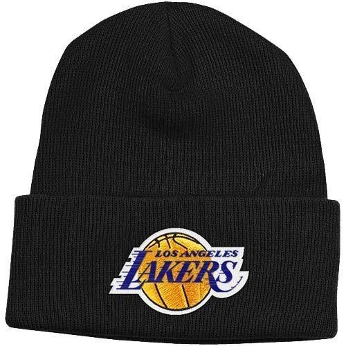 Los Angeles Lakers Black Cuffed Beanie Hat - NBA LA Cuff Knit Toque Cap by NBA