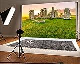 british 5x7ft - AOFOTO 7x5ft Stonehenge Backdrops UK Prehistoric Monument Photo Shoot Background England Travel Photography Studio Props Sky Grass Adult Artistic Portrait Culture History British Landscape Video Drop