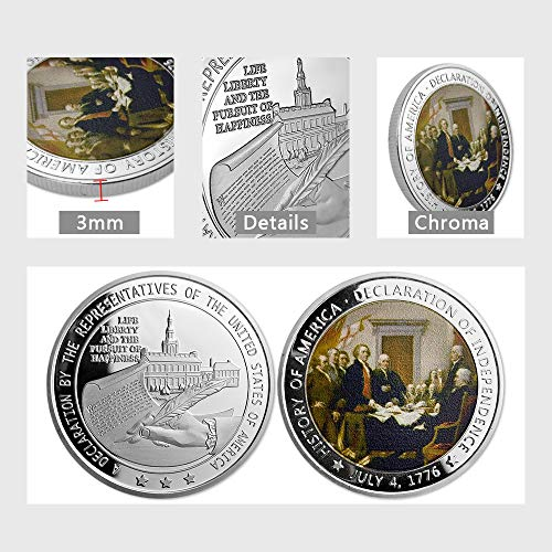 Challenge Coin President Day 1776 US Declaration of Independence  Commemorative Coins Collectibles Gift