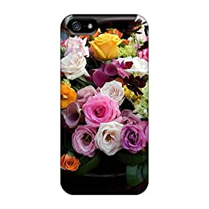 Iphone 5/5s Case Cover - Slim Fit Tpu Protector Shock Absorbent Case (lovely Bouquet)