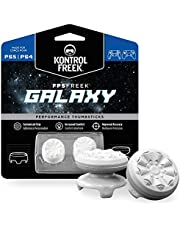 KontrolFreek FPS Freek Galaxy White for Playstation 4 (PS4) and Playstation 5 (PS5) | Performance Thumbsticks | 1 High-Rise, 1 Mid-Rise | White