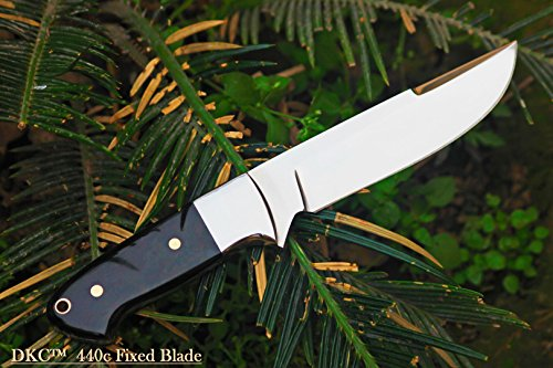 DKC-543-440c-NIGHT-HAWK-440c-Stainless-Steel-Tanto-Bowie-Hunting-Handmade-Knife-Fixed-Blade-78oz-oz-9-Long-5-Blade