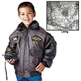 Rothco Kids Wwii Aviator Flight Jacket, Brown, Large