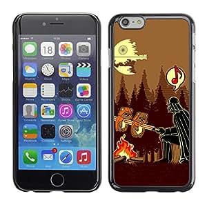 CaseCaptain Carcasa Funda Case - Apple Iphone 6 / Funny Vader Barbeque /