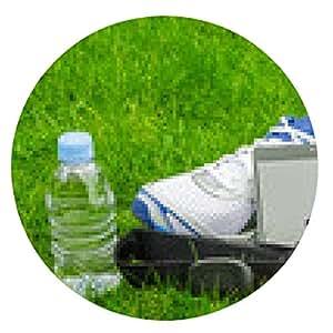 alfombrilla de ratón equipos de deporte moderno para correr sobre la hierba - ronda - 20cm