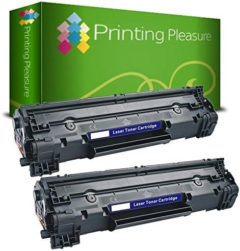 Printing Pleasure CF283A 83A T/óner Compatible con HP Laserjet Pro M201dw M201n M202dw M202n MFP M125a M125nw M125rnw M125m M126a M126nw M127fn M127fp M127fw M128fn M128fp M128fw M225dn M225dw