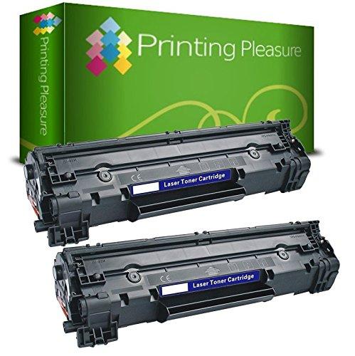 57 opinioni per Printing Pleasure CF283A / 83A Kit 2 Toner Compatibili per HP Laserjet Pro