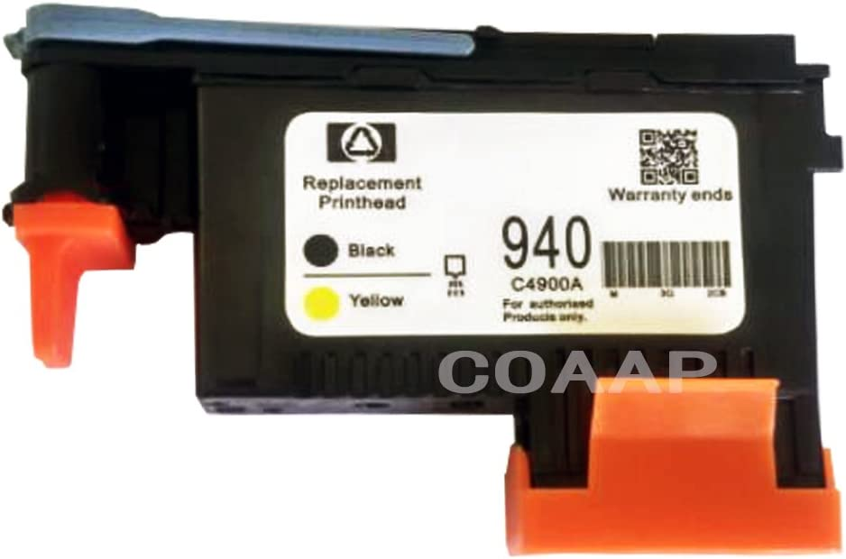 1 Pack 940 Printhead Black/Yellow C4900A For Officejet Pro 8000 8500 8500 A printers