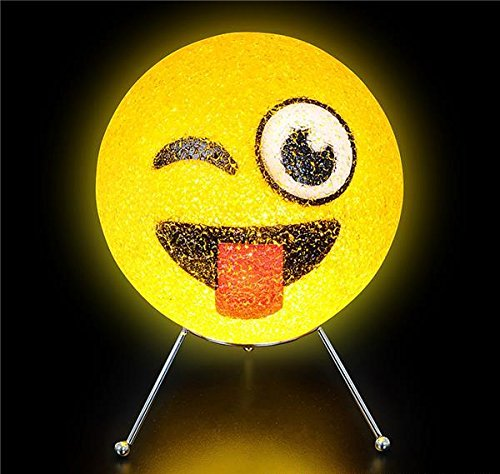 DollarItemDirect 9'' SPARKLE EMOTICON LAMP, Case of 6 by DollarItemDirect