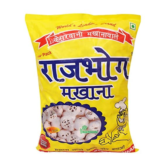 Rajbhog Regular Lotus Seeds Pop/Gorgon Nut Puffed Kernel (Makhana) Grade - Big Size Pouch, 250 g