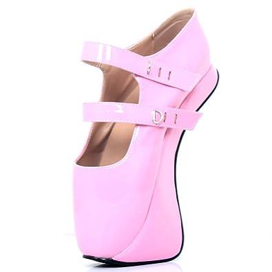 1c87492dfbe8a Amazon.com | JiaLuoWei Women High Heel Sandals Lockable Ankle Strap ...