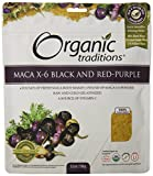 Organic Traditions Organic Gelatinized Raw 6:1 Maca X-6 Powder, Black and Red-Purple, 5.3 Ounce