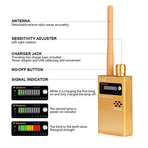 Eilimy Anti-spy Wireless RF Signal Detector Set [Upgrade Enhanced] Bug GPS Camera Signal Detector, for Detecting Hidden Camera GPS Tracker Wireless Signal Detector(Ultra-high Sensitivity) by Eilimy (Image #4)