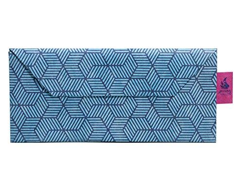 CrispyWallet Tyvek Handyhülle Size M 3D Blue