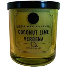 Coconut Lime Verbena Richly Scented Candle Small Single Wick Hand Poured From...