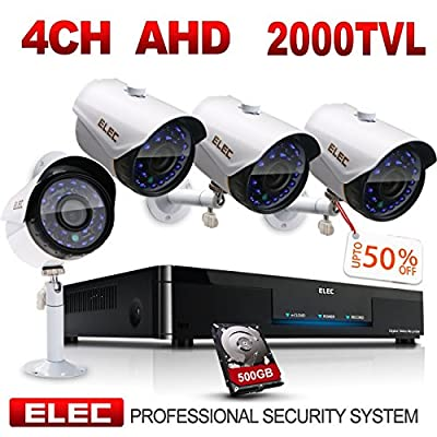 ELEC 1080N HD Outdoor Home Security Camera System CCTV Video Monitoring