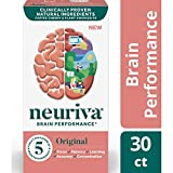 Fast-Acting Brain Support Supplement - NEURIVA Original (30Count in a Bottle), Helps Support 5 Indicators of Brain Performance: Focus, Memory, Learning, Accuracy & Concentration, with Neurofactor