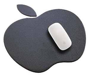 Alfombrilla negra de resina en forma de manzana