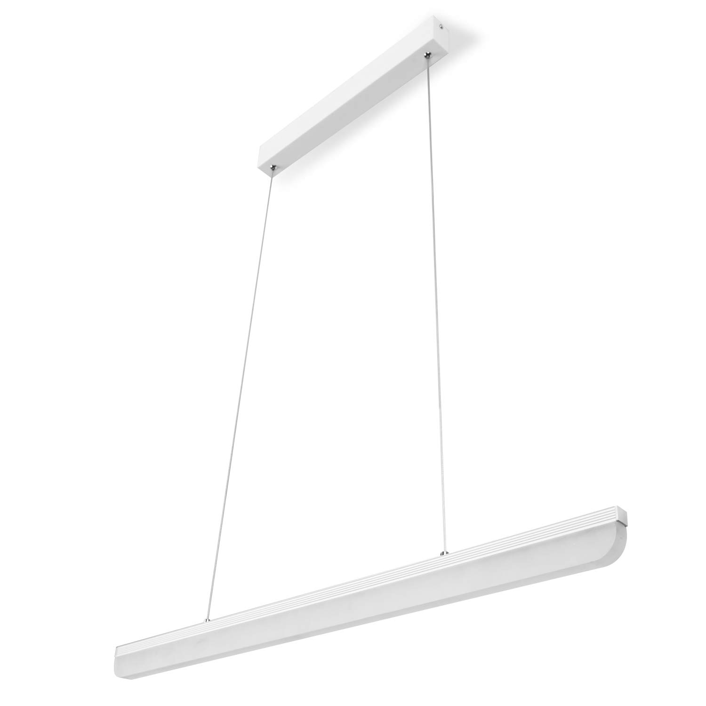 Pendelleuchte Höhenverstellbar 16W, Hängelampe Esszimmer Weiss 4000K Acryl Hängeleuchte für Esstisch Arbeitszimmer Wohnzimmer
