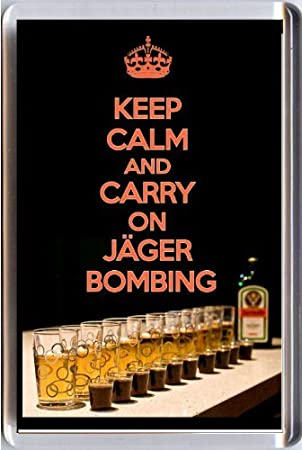 Keep Calm And Carry On jägerbombing imán para nevera con una ...