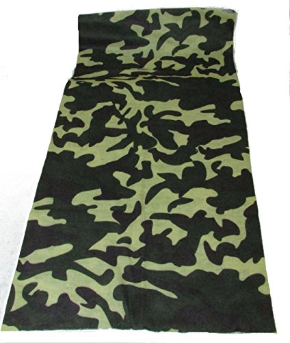Multi Functional Face and Headwear Protection Green Camo Headwrap Green Camo