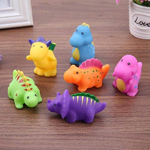 GreenSun TM 6pcs/Set Baby Animals Swimming Water Bathing Soft Floating Toys Squeeze Sound Squeaky Bathing Toy For Baby Bath Toys
