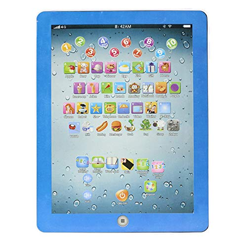 Zaidern Tablet IPAD Educational Learning Toys Great Gift for Kids/Baby/Children/Adults (Blue)
