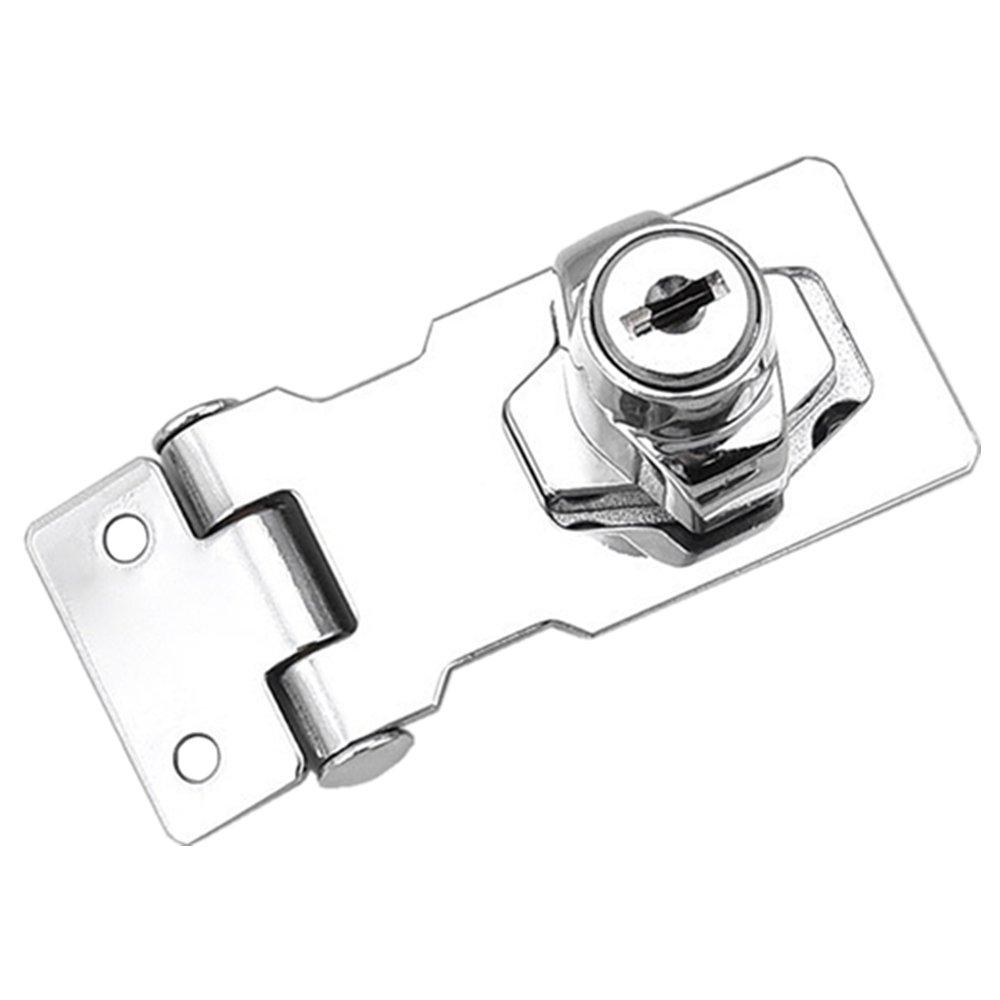 Cassetto armadio serrature con lucchetto Hasp chiusure a leva in acciaio INOX porta blocco con viti per mobili Mailbox cassetto armadio guardaroba (6, 4 cm) (1 pezzi) YUOIP