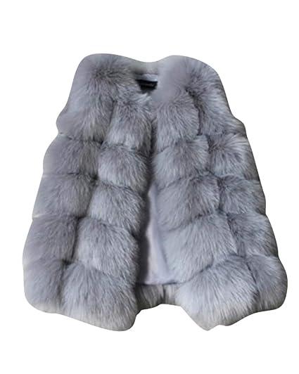 Niña Invierno Abrigo, Niñas Chalecos Sin Mangas Abrigo Chaqueta Chaleco De Pelo Rucio 140: Amazon.es: Ropa y accesorios