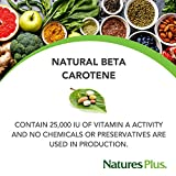 NaturesPlus Natural Beta Carotene - 25,000 iu