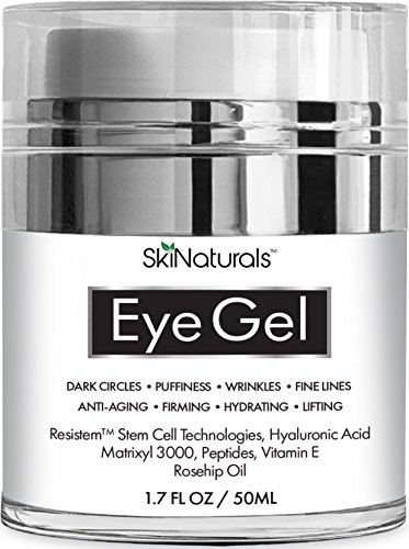 Eye Gel for Dark Circles, Puffiness, Wrinkles, Fine Lines and Bags - The Most Effective Anti-Aging Eye Cream for Under and Around Eyes with Hyaluronic Acid and Rosehip Oil - 1.7 fl. oz (A New Lifting Day Cream)