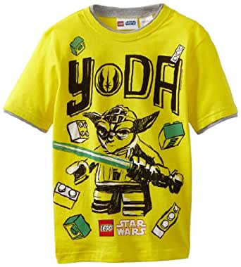 Star Wars Lego Big Boys' Short Sleeve T-Shirt, Bright Yellow, 18
