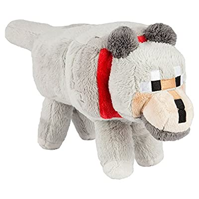 "JINX Minecraft 15"" Wolf Plush Stuffed Toy (Unboxed with Hang Tag) from Jinx Inc."